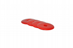 Survey / Road Markers,  55mm Dia, Red, High Impact HDPE Plastic Disc Washers, Bevelled Edges. S7663